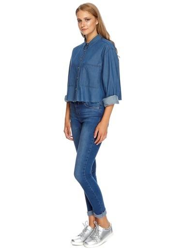 T-Box Jean Gömlek İndigo